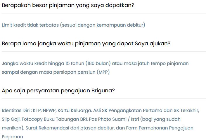 Pinjaman Bank BRI Jaminan SK Karyawan,BRIGuna Saja